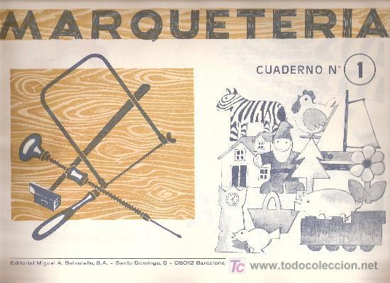 Cuadernos marqueteria antiguos a os 60 n 1 comprar - Cuadernos de marqueteria ...