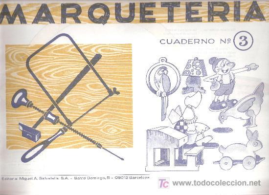 Cuadernos marqueteria antiguos a os 60 n 3 comprar - Cuadernos de marqueteria ...