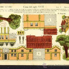 Coleccionismo Recortables: RECORTABLE DE CONSTRUCCIONES: CASA DEL SIGLO XVIII (ED.LA TIJERA SERIE 5 NUM.65). Lote 12107754