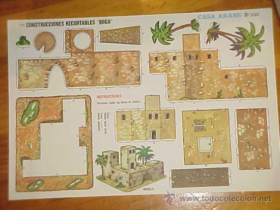 CASA ARABE. CONSTRUCCIONES RECORTABLES BOGA. (Coleccionismo - Recortables - Construcciones)