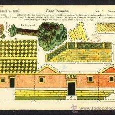 Coleccionismo Recortables: RECORTABLE DE CONSTRUCCIONES: CASA ROMANA (ED.LA TIJERA SERIE 5 NUM.28). Lote 28268364