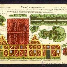 Coleccionismo Recortables: RECORTABLE DE CONSTRUCCIONES: CASA DE CAMPO FRANCESA (ED.LA TIJERA SERIE 5 NUM.82). Lote 28268368