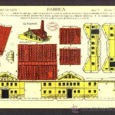 Coleccionismo Recortables: RECORTABLE DE CONSTRUCCIONES: FABRICA (ED.LA TIJERA SERIE 5 NUM.88). Lote 28268372