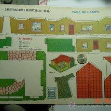Coleccionismo Recortables: 9142 CASA DE CAMPO RECORTABLE BOGA AÑOS 1960/70 - MAS EN MI TIENDA COSAS&CURIOSAS. Lote 13471957
