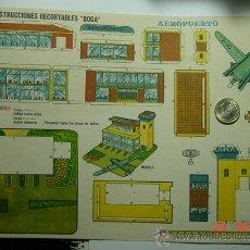 Coleccionismo Recortables: 9144 AEROPUERTO RECORTABLE BOGA AÑOS 1960/70 - MAS EN MI TIENDA COSAS&CURIOSAS. Lote 13472169