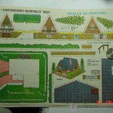 Coleccionismo Recortables: 9145 CHALET DE MONTAÑA RECORTABLE BOGA AÑOS 1960/70 - MAS EN MI TIENDA COSAS&CURIOSAS. Lote 13472274