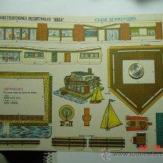 Coleccionismo Recortables: 9146 CLUB MARITIMO RECORTABLE BOGA AÑOS 1960/70 - MAS EN MI TIENDA COSAS&CURIOSAS. Lote 13472330