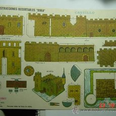 Coleccionismo Recortables: 9148 CASTILLO RECORTABLE BOGA AÑOS 1960/70 - MAS EN MI TIENDA COSAS&CURIOSAS. Lote 13472441