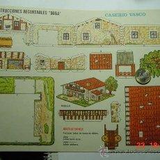 Coleccionismo Recortables: 9149 CASERIO VASCO RECORTABLE BOGA AÑOS 1960/70 - MAS EN MI TIENDA COSAS&CURIOSAS. Lote 13472472