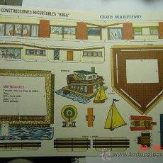 Coleccionismo Recortables: 9166 CLUB MARITIMO RECORTABLE BOGA AÑOS 1970 - MAS EN MI TIENDA COSAS&CURIOSAS. Lote 13473067