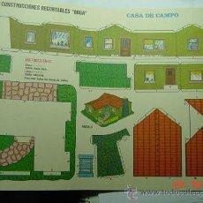 Coleccionismo Recortables: 9171 CASA DE CAMPO RECORTABLE BOGA AÑOS 1970 - MAS EN MI TIENDA COSAS&CURIOSAS. Lote 13473198