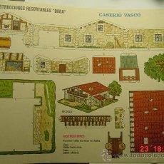 Coleccionismo Recortables: 9173 CASERIO VASCO RECORTABLE BOGA AÑOS 1970 - MAS EN MI TIENDA COSAS&CURIOSAS. Lote 13473236