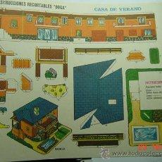 Coleccionismo Recortables: 9174 CASA DE VERANO RECORTABLE BOGA AÑOS 1970 - MAS EN MI TIENDA COSAS&CURIOSAS. Lote 13473254