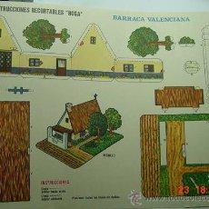 Coleccionismo Recortables: 9175 BARRACA VALENCIANA RECORTABLE BOGA AÑOS 1970 - MAS EN MI TIENDA COSAS&CURIOSAS. Lote 13473268
