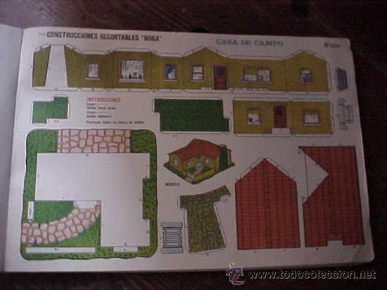 CONSTRUCCIONES RECORTABLES BOGA Nº 525. CASA DE CAMPO. (Coleccionismo - Recortables - Construcciones)