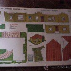 Coleccionismo Recortables: CONSTRUCCIONES RECORTABLES BOGA Nº 525. CASA DE CAMPO.. Lote 17024032