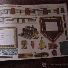 Coleccionismo Recortables: CONSTRUCCIONES RECORTABLES BOGA Nº 524. CLUB MARITIMO.. Lote 13492627