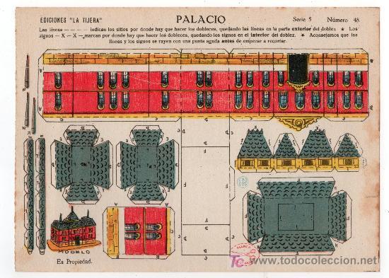 RECORTABLE EDICIONES LA TIJERA SERIE 5 Nº 48. PALACIO (Coleccionismo - Recortables - Construcciones)