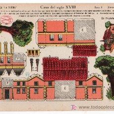 Coleccionismo Recortables: RECORTABLE EDICIONES LA TIJERA SERIE 5 Nº 65. CASA DEL SIGLO XVIII. Lote 14185885