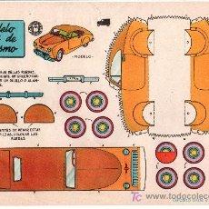 Coleccionismo Recortables: RECORTABLES BRUGUERA COCHE MODELO INGLES DE TURISMO. 1959. Lote 14186040