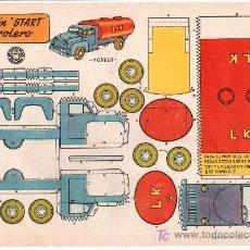 Coleccionismo Recortables: RECORTABLES BRUGUERA CAMION START PETROLERO. 1959. Lote 14186045