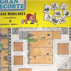 Coleccionismo Recortables: GRAN RECORTE - CASAS MODULARES 8 MODELOS - EDITORIAL ROMA 1979 EN SU FUNDA A ESTRENAR. Lote 19727738