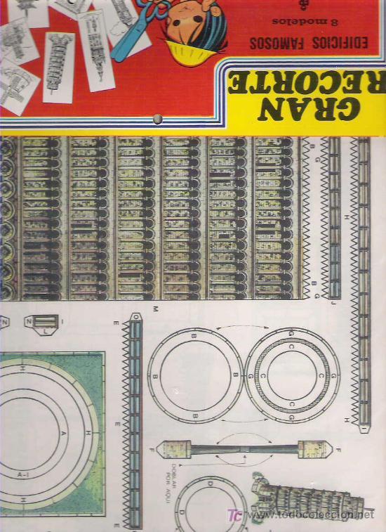 GRAN RECORTE - EDIFICIOS FAMOSOS 8 MODELOS - EDITORIAL ROMA 1983 EN SU FUNDA A ESTRENAR (Coleccionismo - Recortables - Construcciones)