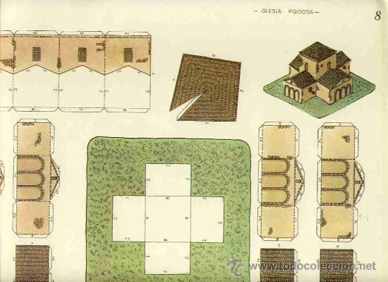 RECORTABLE DE CONSTRUCCIONES: IGLESIA VISIGODA (SIN EDITOR, NUM.8) (Coleccionismo - Recortables - Construcciones)