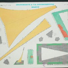 Coleccionismo Recortables: RECORTABLE- MONUMENTO A LA ASTRONAUTICA MOSCU - EDITORIAL CULTURA Y PROGRESO - Nº 1.109 - NUEVO 1971. Lote 25752606