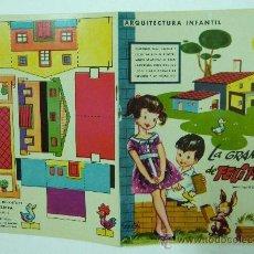 Coleccionismo Recortables: CUENTO LIBRO PARA COLOREAR RECORTABLE LA GRANJA DE FELIPIN ARQUITECTURA INFANTIL ED. LA TIJERA. Lote 25602491