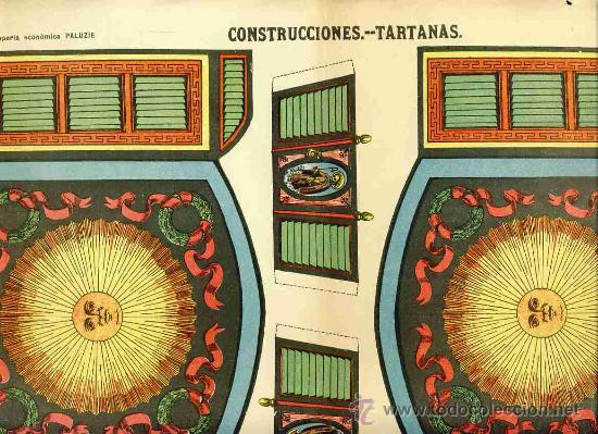 RECORTABLE DE CONSTRUCCIONES: TARTANAS (PALUZIE NUM. 1150) (Coleccionismo - Recortables - Construcciones)