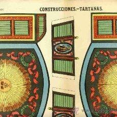 Coleccionismo Recortables: RECORTABLE DE CONSTRUCCIONES: TARTANAS (PALUZIE NUM. 1150). Lote 24909394