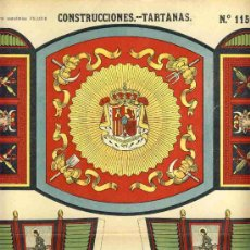 Coleccionismo Recortables: RECORTABLE DE CONSTRUCCIONES: TARTANAS (PALUZIE NUM. 1150 BIS). Lote 16128046