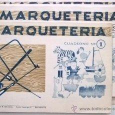 Coleccionismo Recortables: LOTE DE 5 MANUALES DE MARQUETERIA DE LOS AÑOS 60 VER FOTO. Lote 16351834
