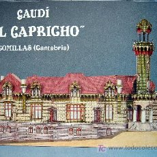 Coleccionismo Recortables: RECORTABLE VILLA - EL CAPRICHO - DE GAUDÍ. COMILLAS (CANTABRIA). ¡¡¡ OPORTUNIDAD !!!. Lote 65441450