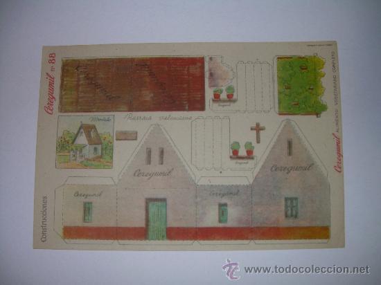 ANTIGUO RECORTABLE (CEREGUMIL) (Coleccionismo - Recortables - Construcciones)