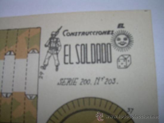 Coleccionismo Recortables: ANTIGUO RECORTABLE...CAÑON - Foto 2 - 22147287