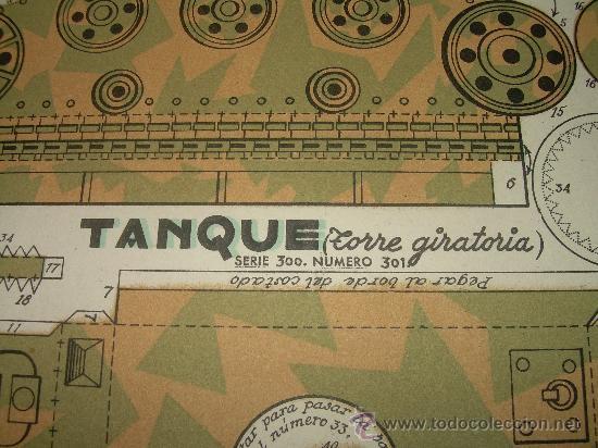 Coleccionismo Recortables: ANTIGUO RECORTABLE...TANQUE TORRETA GIRATORIA - Foto 3 - 22750161