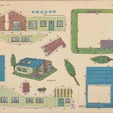 Coleccionismo Recortables: LÁMINA DE RECORTABLES (22,5X30) CHALET . RECORTABLES EVA Nº 1309.. Lote 19479983