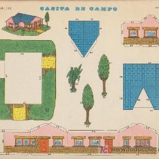 Coleccionismo Recortables: LÁMINA DE RECORTABLES (22,5X30) CASITA DE CAMPO . RECORTABLES EVA Nº 1310.. Lote 19480049