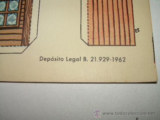 Coleccionismo Recortables: ANTIGUA RECORTABLE..TORAY...SERIE OESTE...AÑO 1.962 - Foto 3 - 22147298