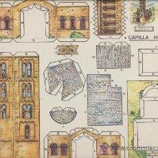 Coleccionismo Recortables: CAPILLA ROMÁNICA. SERIE NARANJA Nº 5. EDITORIAL ROMA (26X35). Lote 19643464