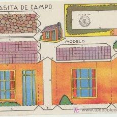 Coleccionismo Recortables: CASITA DE CAMPO. CONSTRUCCIONES ROSITA. EDITORIAL ROMA.(12,5X17,5).. Lote 19645125