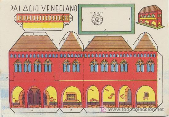 PALACIO VENECIANO. CONSTRUCCIONES ROSITA. EDIT. ROMA.(12,5X17,5) (Coleccionismo - Recortables - Construcciones)
