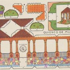 Coleccionismo Recortables: CONSTRUCCIONES ROSITA. QUIOSCO DE MÚSICA.(12,5X17,5) EDITORIAL ROMA.. Lote 19647926