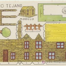 Coleccionismo Recortables: CONSTRUCCIONES ROSITA. RANCHO TEJANO .(12,5X17,5) EDITORIAL ROMA.. Lote 19647976