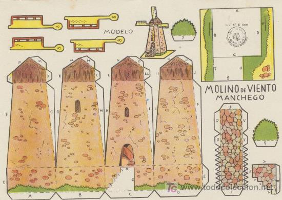 CONSTRUCCIONES ROSITA. MOLINO DE VIENTO MANCHEGO. (12,5X17,5) EDITORIAL ROMA. (Coleccionismo - Recortables - Construcciones)