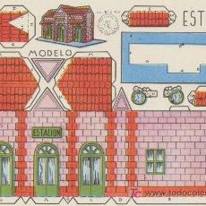 Coleccionismo Recortables: CONSTRUCCIONES ROSITA. ESTACIÓN. (12,5X17,5) EDITORIAL ROMA.. Lote 19660626