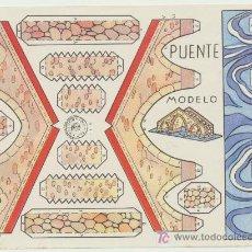 Coleccionismo Recortables: CONSTRUCCIONES ROSITA. PUENTE. (12,5X17,5) EDITORIAL ROMA.. Lote 19660703
