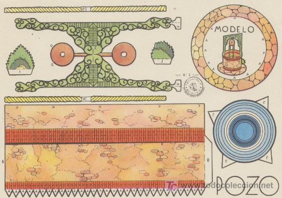 CONSTRUCCIONES ROSITA. POZO. (12,5X17,5) EDITORIAL ROMA. (Coleccionismo - Recortables - Construcciones)